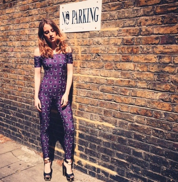 Made In Chelsea star Rosie Fortescue shares picture of her new catsuit on Instagram, 7th May 2015