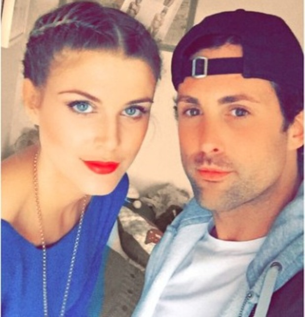 Ashley James shows off French braided hair by James Wilson, 6 May 2015