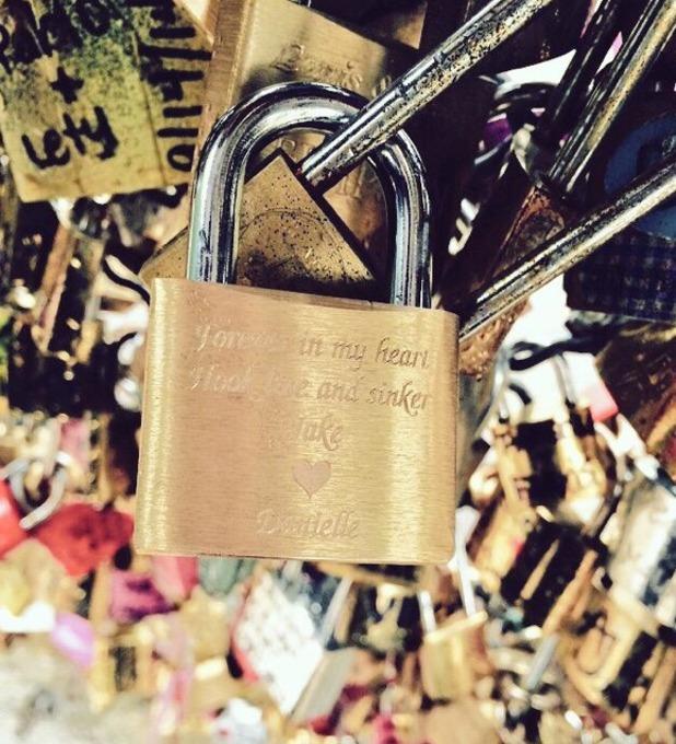 Jake Quickenden and Danielle Fogarty enjoy romantic break in Paris, May 2015