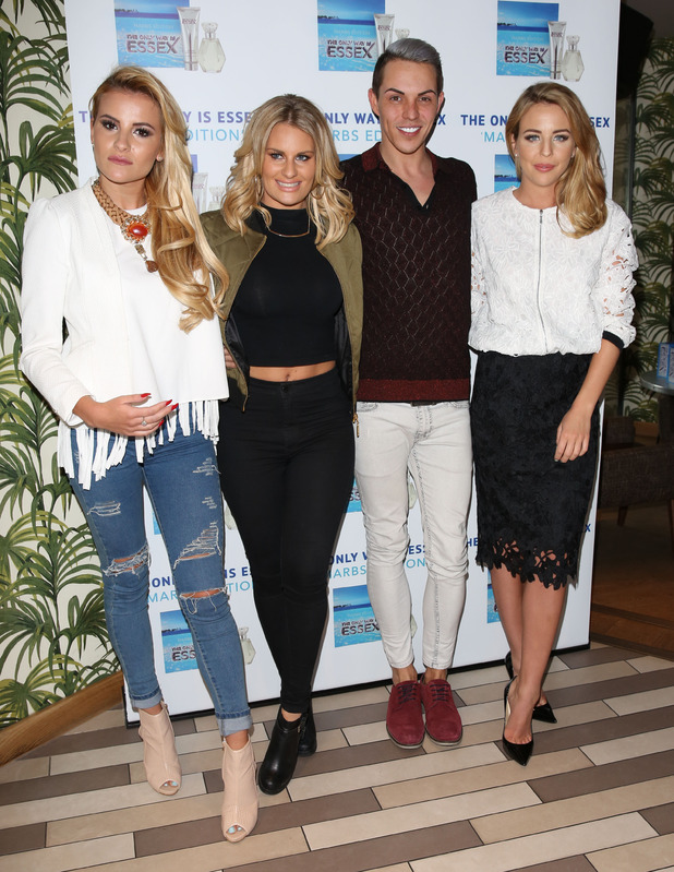 The Only Way is Essex cast at the launch of The Only Way is Marbs fragrance - 6 May 2015.