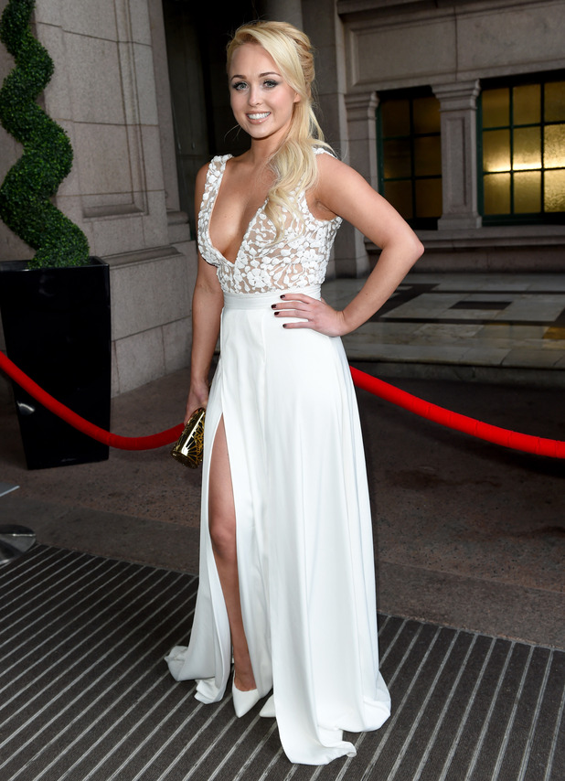 Jorgie Porter arrives at the Miss Manchester Finals - 8 May 2015.
