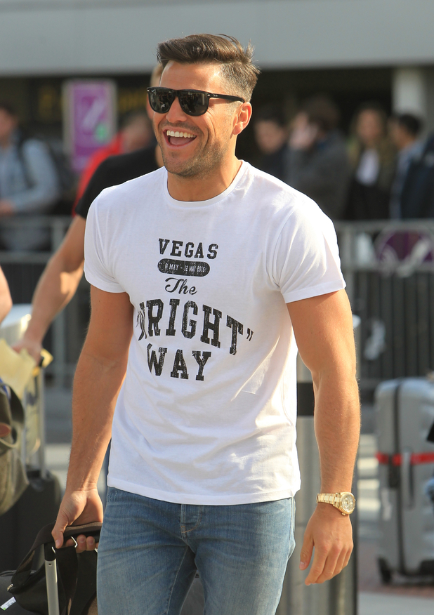 Mark Wright leaves London to head to his Las Vegas stag trip, 6th May 2015