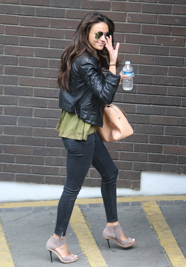 Michelle Keegan outside ITV Studios, 5th May 2015