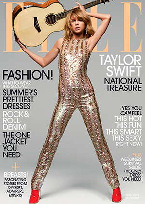 Taylor Swift as the ELLE Women In Music June cover star, 2015