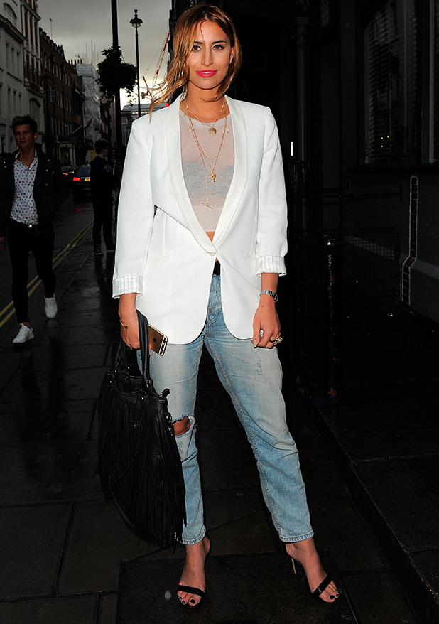 Ferne McCann attends the Annual Hepatitis C Fundraiser at Groucho Club in Soho, 6 May 2015