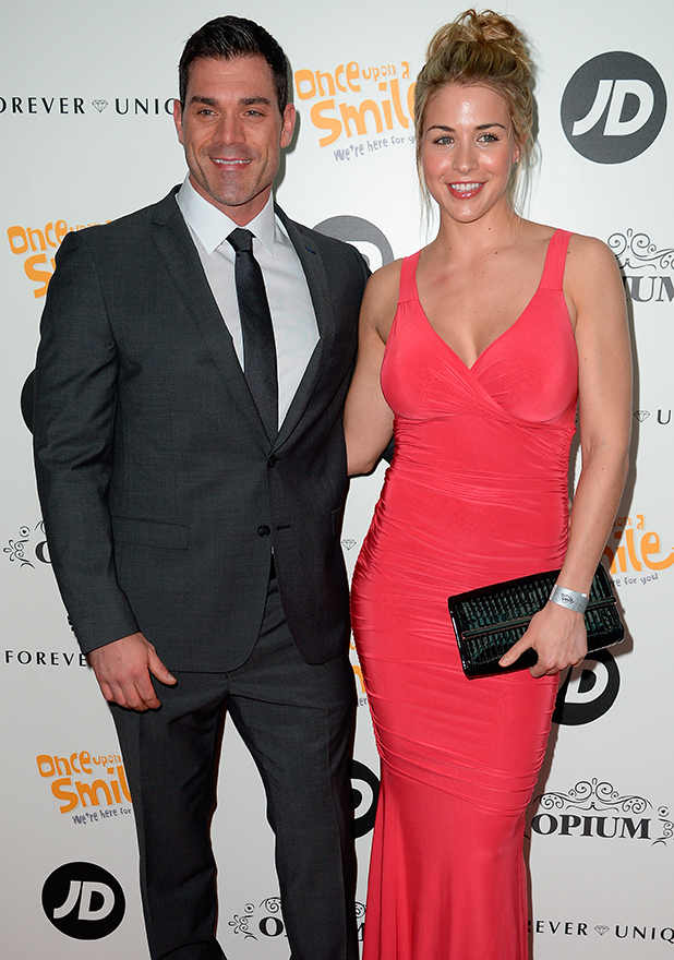 Gemma Atkinson and boyfriend Olly Foster at Once Upon A Smile Grand Ball 2015 at The Hilton Hotel, Manchester - Arrivals, 3 May 2015