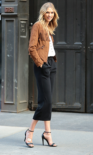 Karlie Kloss is seen on May 06, 2015 in New York City.