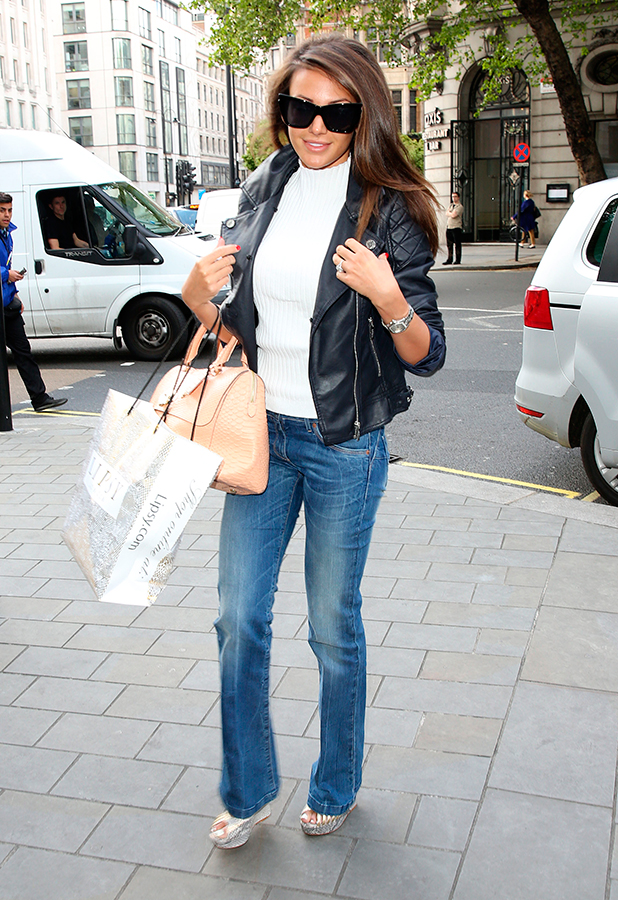 Michelle Keegan arrives at the ME hotel for her Lipsy launch, 7 May 2015