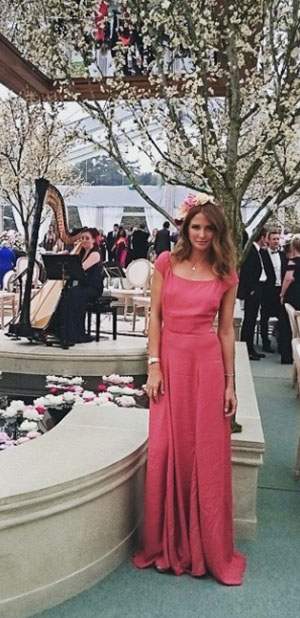 Millie Mackintosh at friends wedding on 2nd May 2015