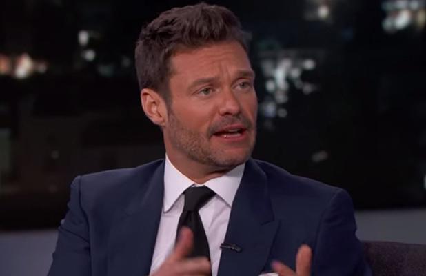 Ryan Seacrest appears on Jimmy Kimmel Live, 5 May 2015