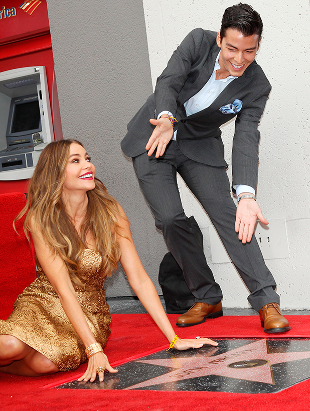 Sofia Vergara and son Manolo at Hollywood Walk of Fame
