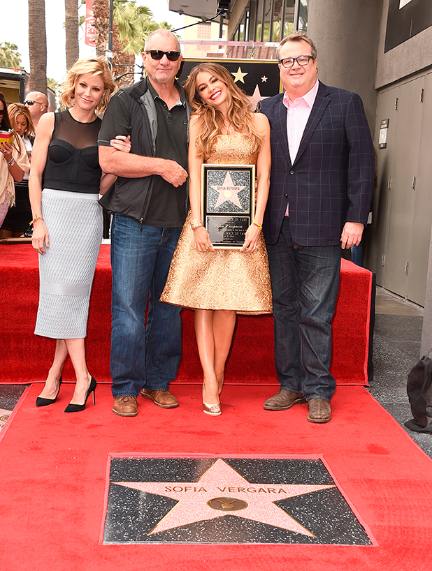 Julie Bowen, Ed O'Neill, Sofia Vergara and Eric Stonestreet Honored With Star On The Hollywood Walk Of Fame on May 7, 2015 in Hollywood, California.