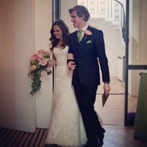 Tom Fletcher and Giovanna on their wedding day, Instagram 12 May