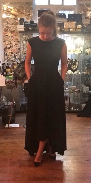 Brooke Vincent at a fitting for Baftas dress 13 May
