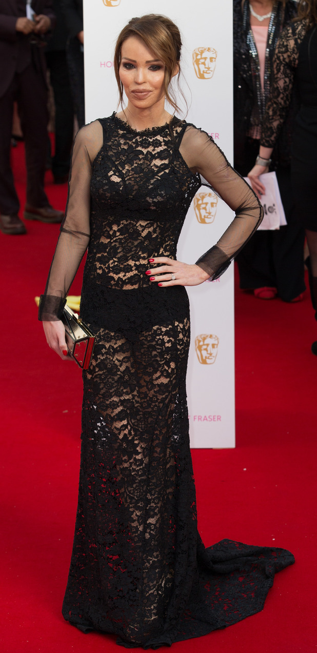 Katie Piper on the red carpet at the TV BAFTA awards May 10th 2015