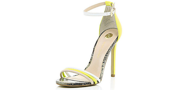 River Island Women's Barely There Snake Effect Sandal, £45