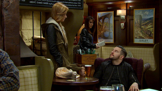 Emmerdale, Emma overhears Debbie and Ross, Tue 12 May