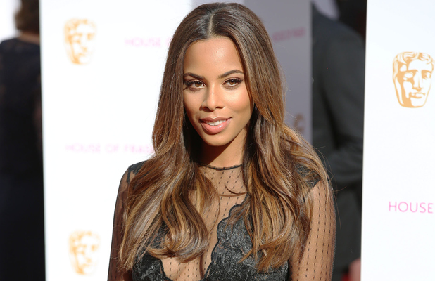 The Saturdays' Rochelle Humes on the red carpet at the TV BAFTAs 10th May 2015