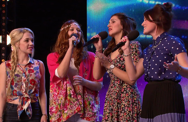 Misstasia perform for the judges during the auditions for 'Britain's Got Talent'. Broadcast on ITV1 HD.