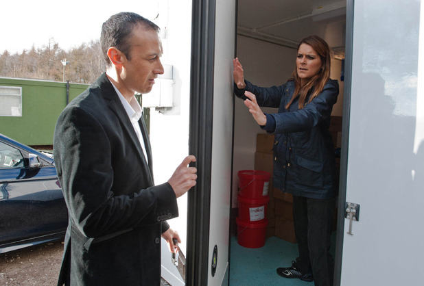 Emmerdale, Jai locks Rachel in a freezer, Mon 18 May