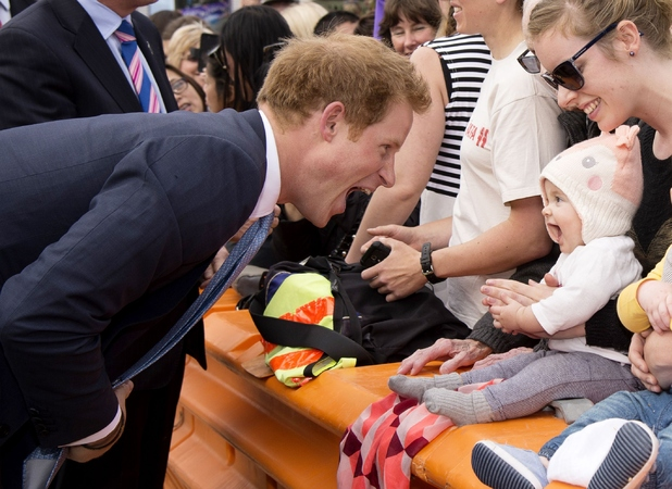 Prince Harry meets the public in Christchurch, New Zealand 12 May