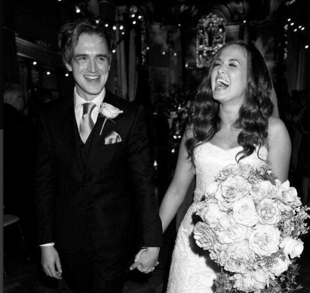 Tom Fletcher and Giovanna mark third anniversary with wedding photos, Instagram 12 May
