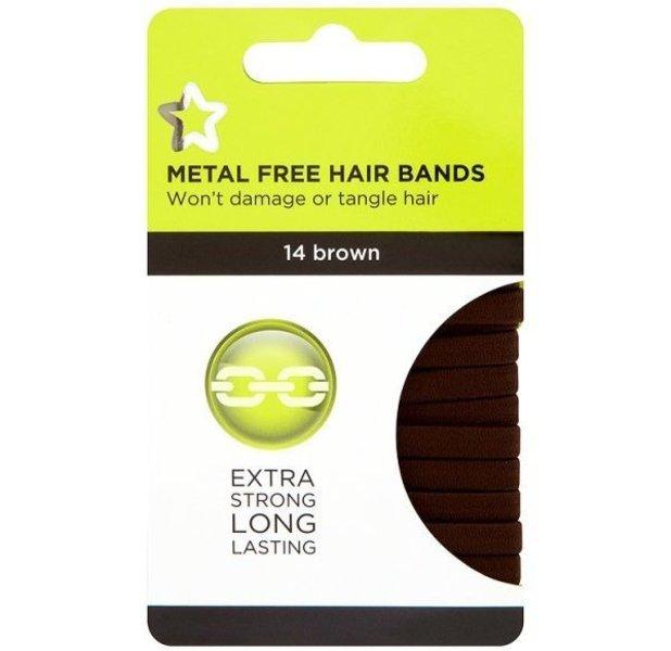 Superdrug Brown Large Hairbands