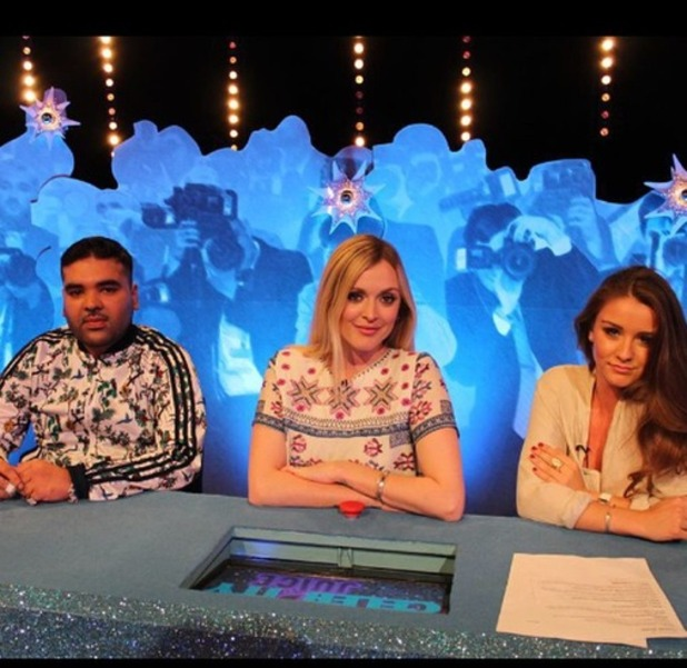 Fearne Cotton, Naughty Boy, Brooke Vincent film Celebrity Juice, 14th May 2015