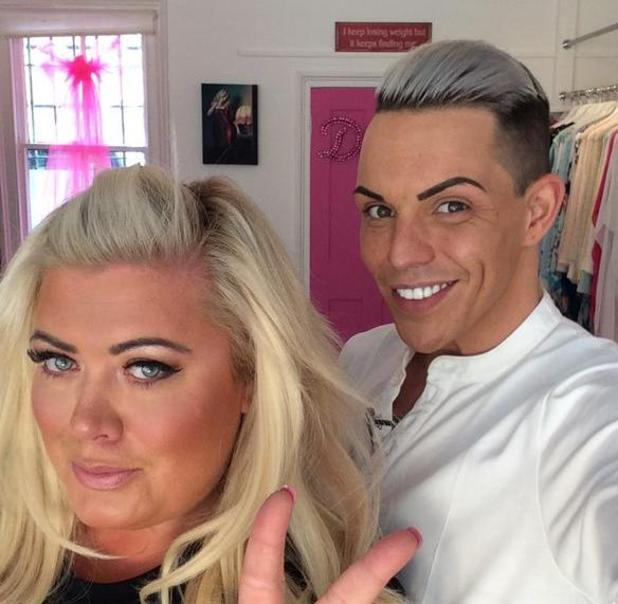 TOWIE's Bobby Norris and Gemma Collins reunite for filming ahead of new series - 12 May 2015.