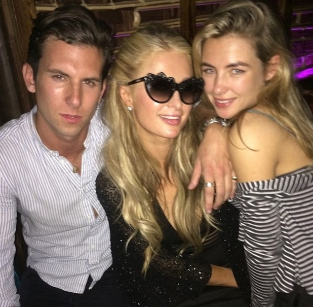 Made In Chelsea's Elliot Cross and Jess Woodley party with Paris Hilton during night out in Mahiki -