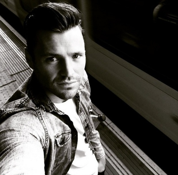 Mark Wright takes the underground to work, Instagram 15 May