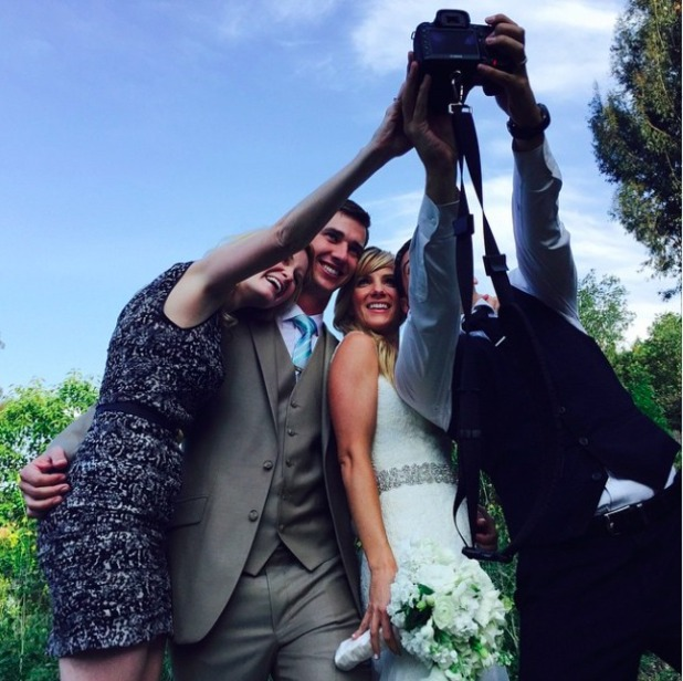 Glee star Heather Morris weds Taylor Hubbell, 17 May 2015