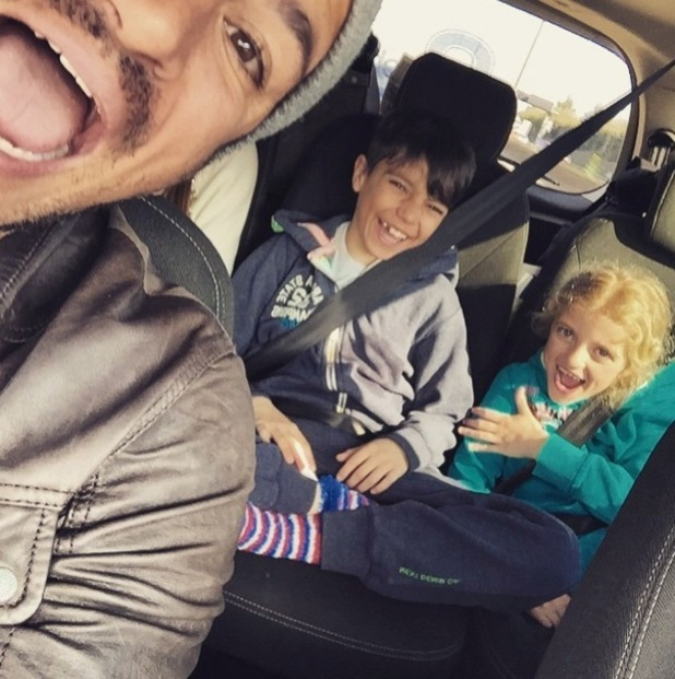 Peter Andre Instagram picture with daughter Princess and son Junior