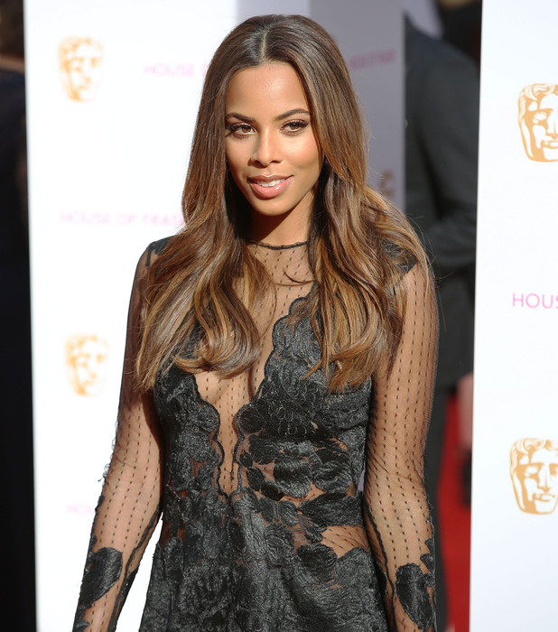 Rochelle Humes on the red carpet at the TV BAFTA's 10th May