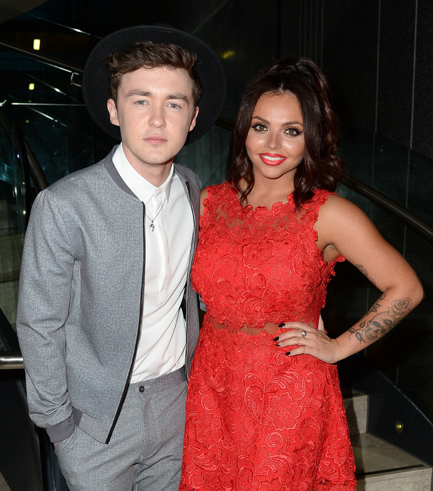 Jake Roche and Jesy Nelson at the Once Upon A Smile Grand Ball 2015 at The Hilton Hotel, Manchester - Inside - 2 May 2015.