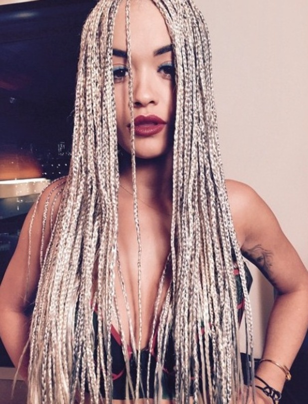 Rita Ora posts picture of her new braids to Instagram 15th May 2015