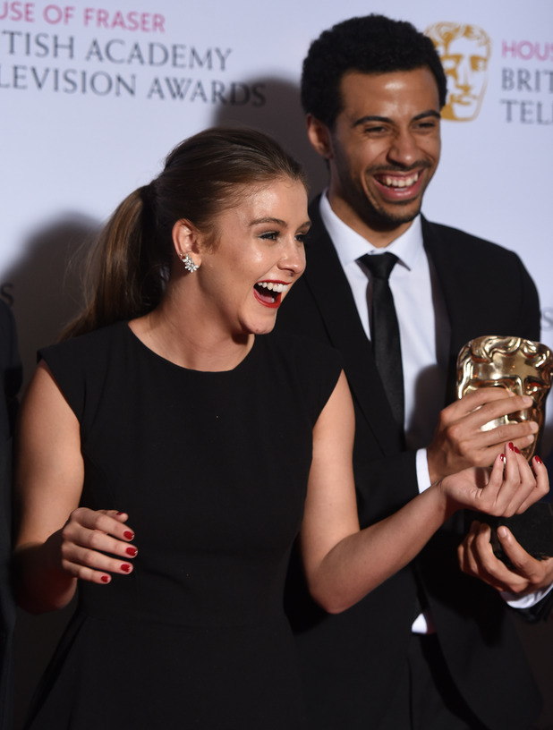 Corrie's Brooke Vincent at BAFTA TV Awards - 10 May 2015.