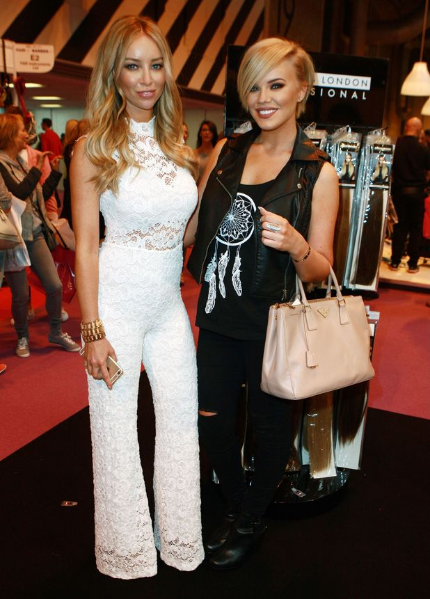 TOWIE's Lauren Pope hangs out with former co-star Maria Fowler at UK Beauty Show in Birmingham - 10 May 2015.