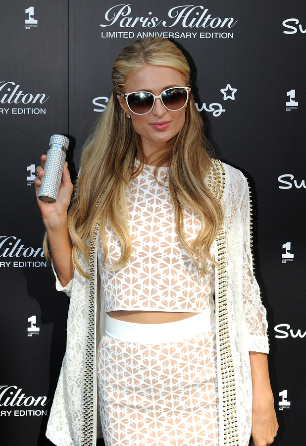 Paris Hilton celebrates ten years of fragrance in Liverpool 14th May 2015