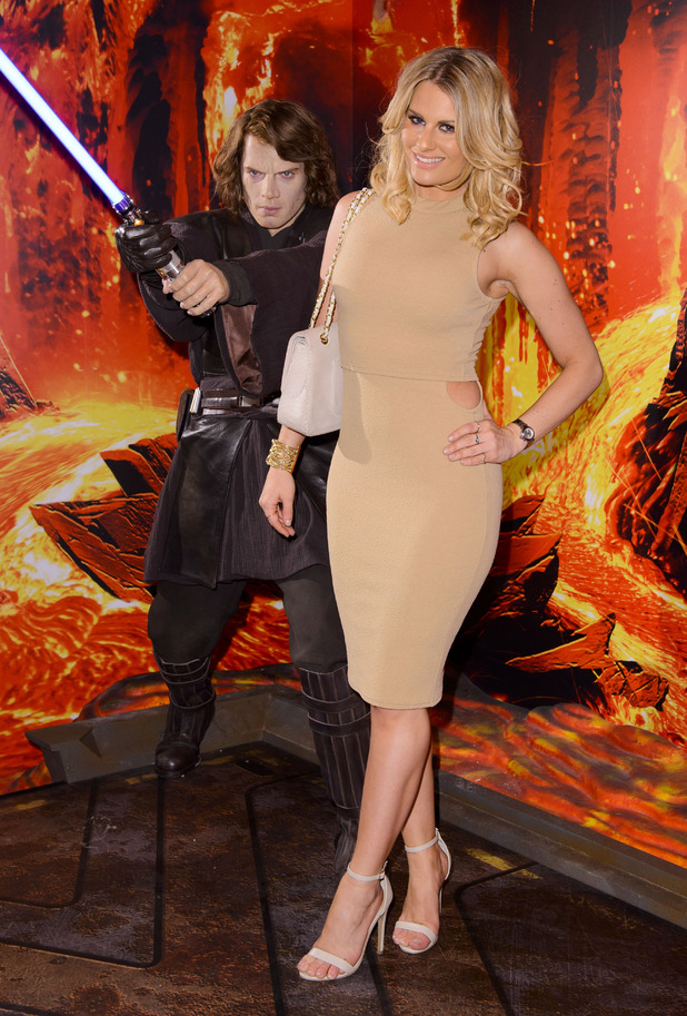 TOWIE's Danielle Armstrong at the 'Star Wars at Madame Tussauds' VIP opening, London, Britain - 13 May 2015.