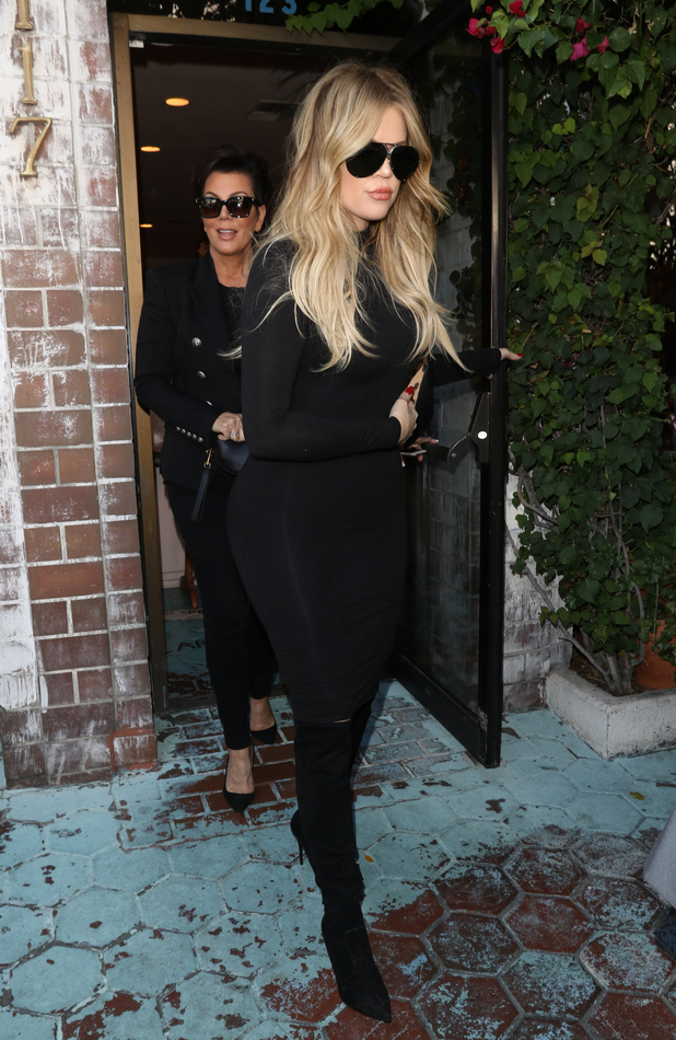 Khloe Kardashian and Kriss Jenner filming in Beverly Hills, 12th May 2015
