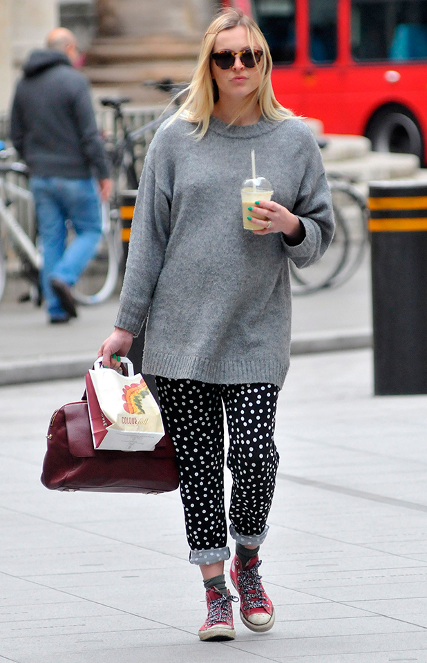 Fearne Cotton arrives at the BBC Radio 1 studios, 14 May 2015