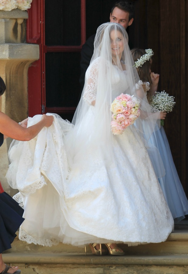 The wedding of Geri Halliwell and Christian Horner at St Mary's Church in Woburn