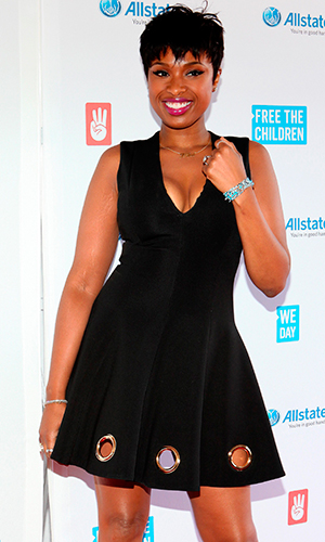 Jennifer Hudson poses for photos on the red carpet during 'We Day' at the Allstate Arena on April 30, 2015 in Rosemont, Illinois. (Photo By Raymond Boyd/Getty Images)