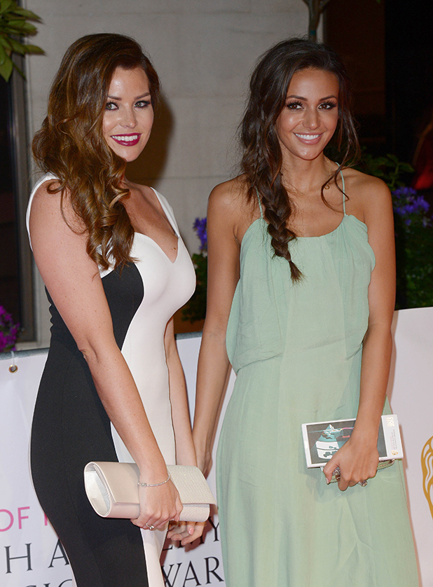 Michelle Keegan and Jessica Wright attend the After Party dinner for the House of Fraser British Academy Television Awards (BAFTA) at The Grosvenor House Hotel on May 10, 2015 in London, England.