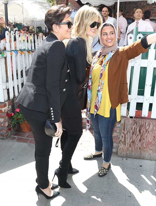 Khloe Kardashian and Kris Jenner are seen on May 11, 2015 in Los Angeles, California.