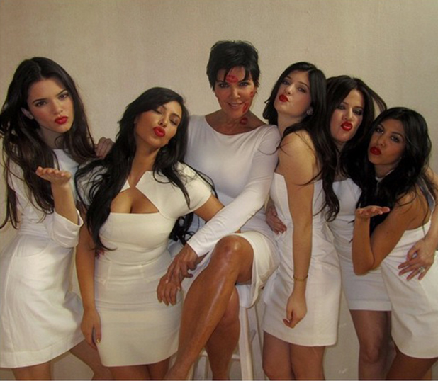 Kris Jenner with Kim, Khloe, Kourtney, Kendall and Kylie, posted to Instagram 10 May 2015