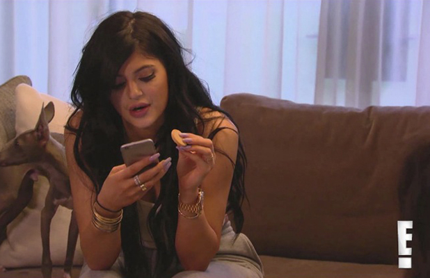 Kylie Jenner in a deleted scene from Kardashians, May 2015