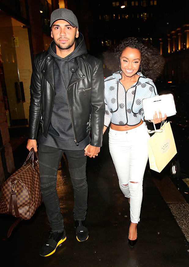 Jordan Kiffin and Leigh-Anne Pinnock at Fancy Kids launch party at Mayfair Design Studio, 15 May 2015