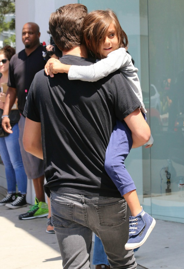 Scott Disick and Mason filming for reality TV show at Dash store in West Hollywood